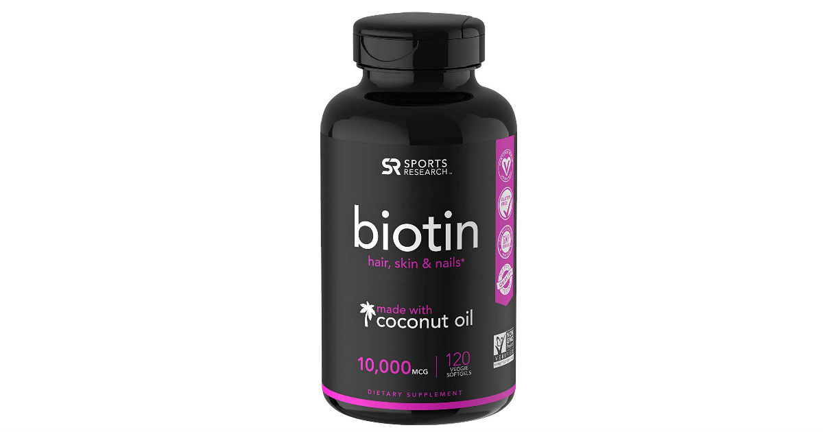 Biotin with Organic Coconut Oil Softgels ONLY $14.90. (Reg. $40)