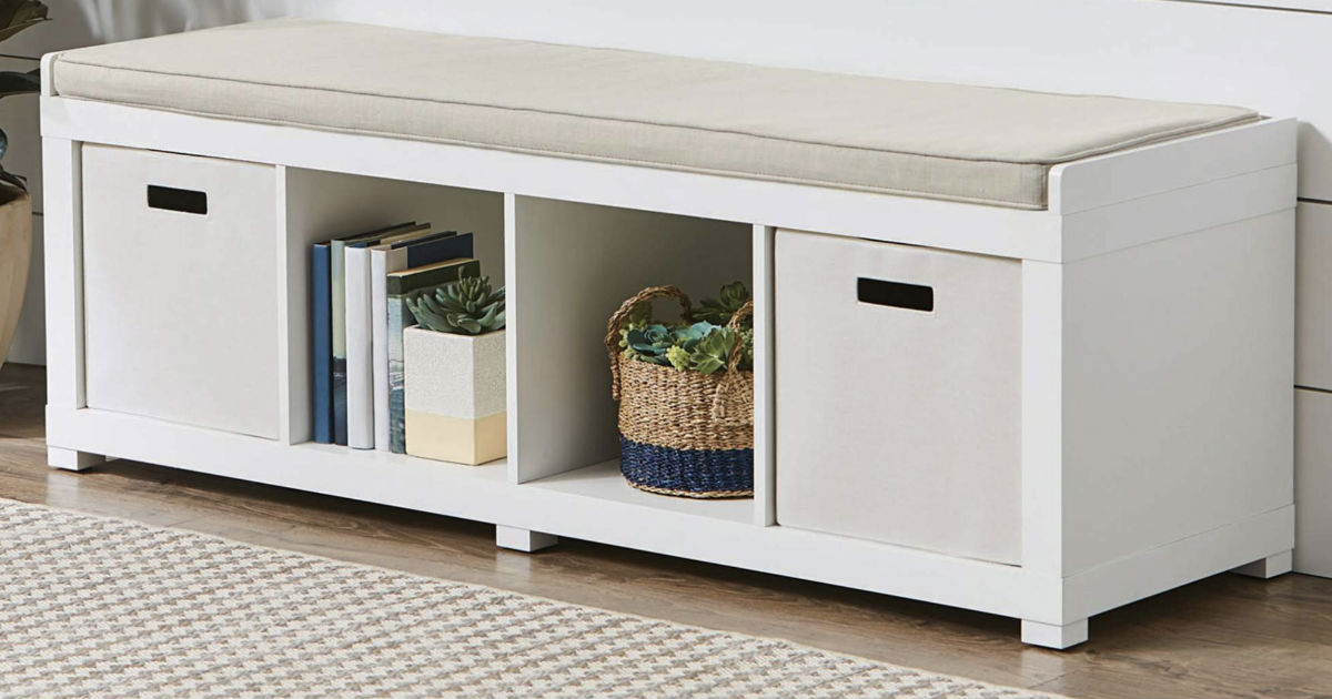 Better Homes and Gardens Organizer Storage Bench ONLY $59.99