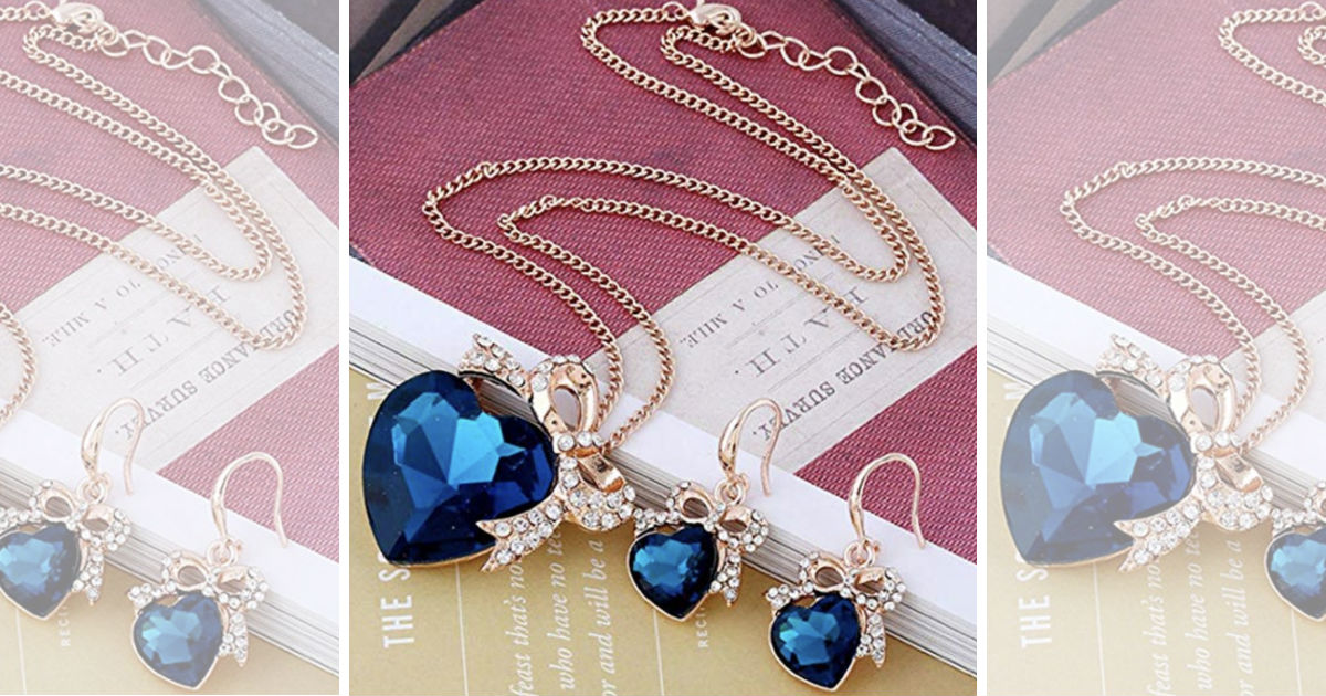 Retro Necklace Earring Set ONLY $4.91 Shipped