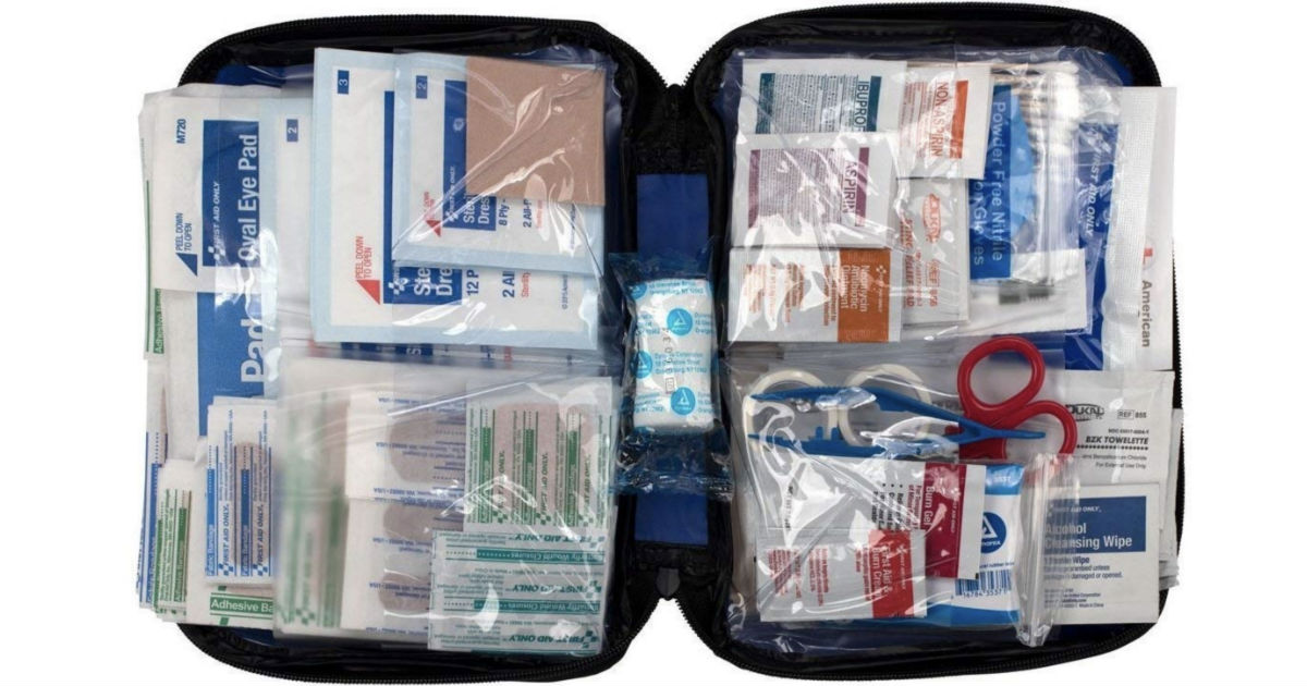 First Aid Essentials Kit with Case ONLY $10.92 Shipped