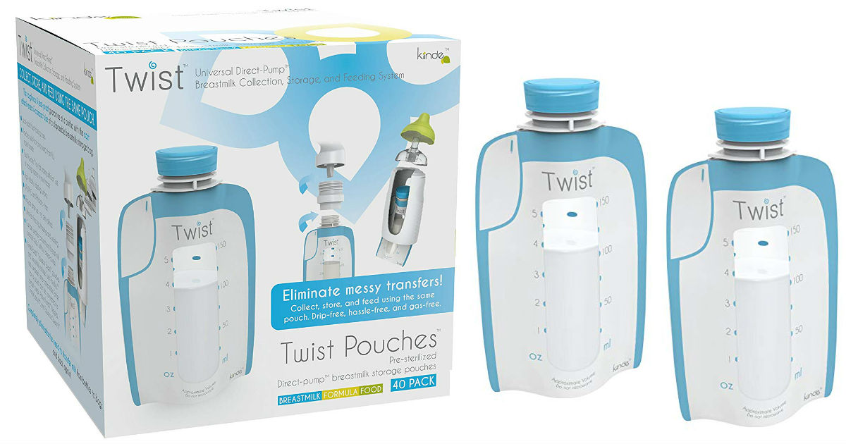 Kiinde Breast Milk Storage Twist Pouches 40-ct Pk ONLY $6.99 (Reg $15)