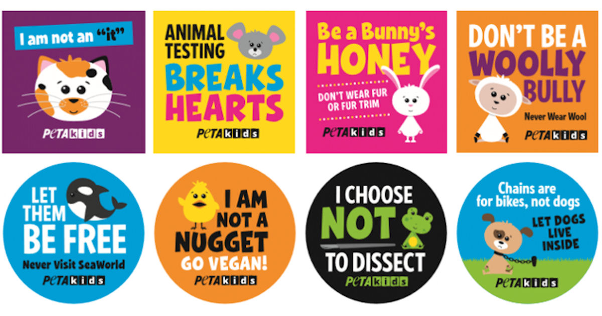 FREE Peta Kids Stickers...