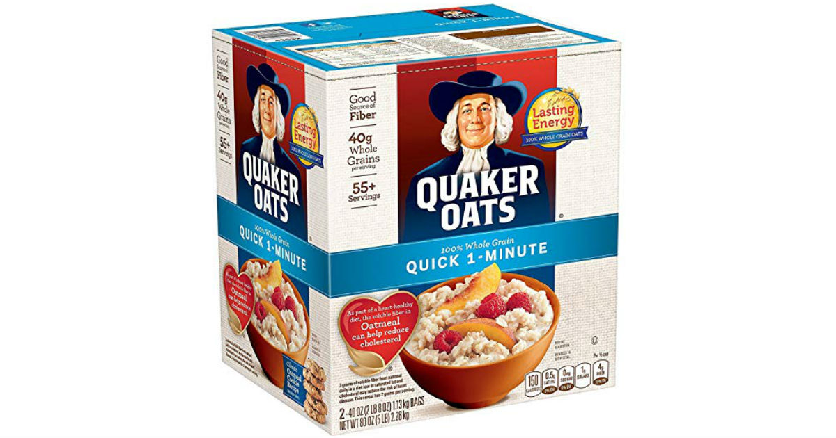Quaker Oats Two 40oz Bags in Box ONLY $6.06 Shipped