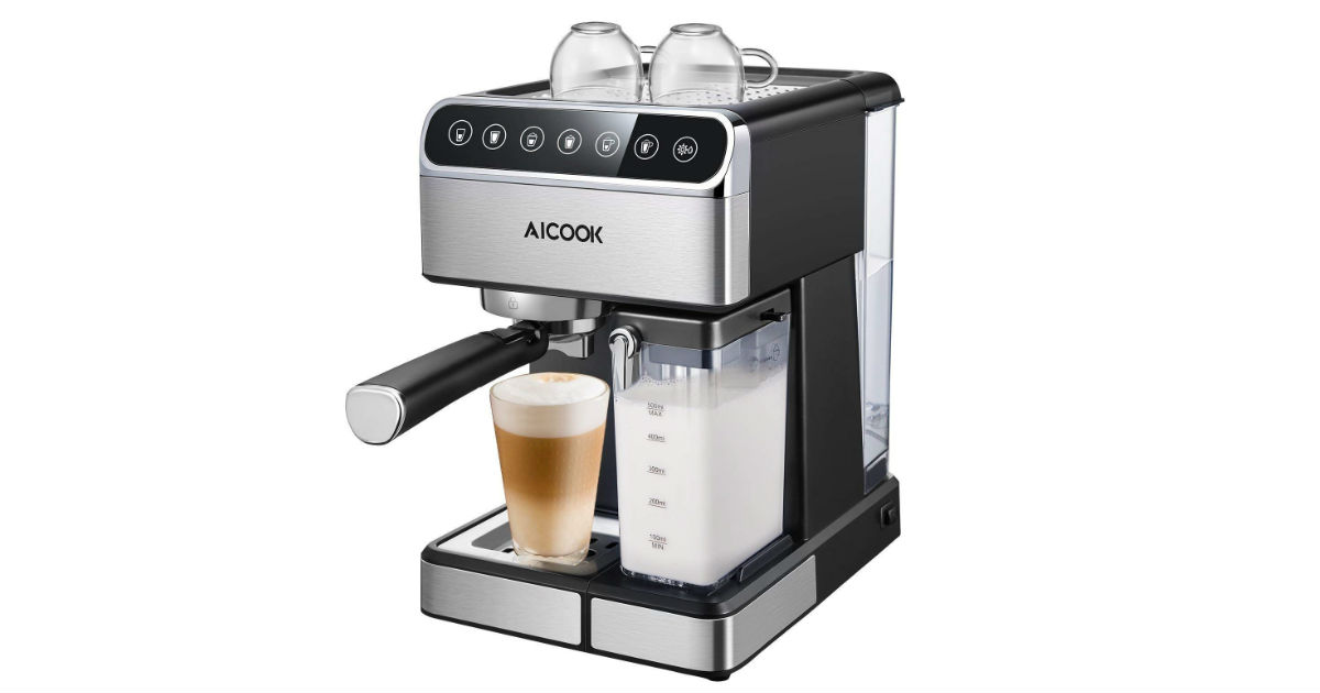 AICOOK Espresso Machine ONLY $99.99 (Reg. $260)