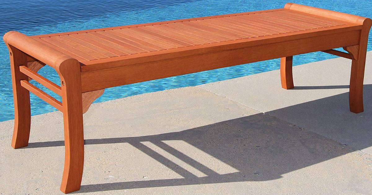 VIFAH Wood Bench ONLY $60.99 Shipped (Reg. $118)