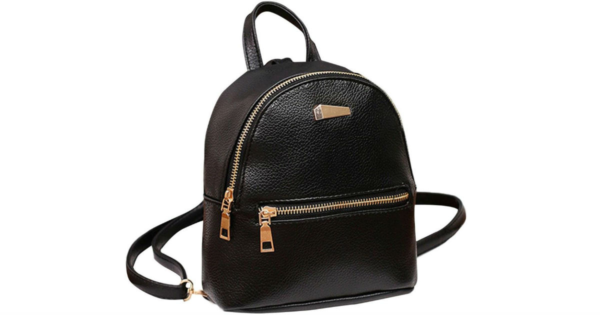 Women Leather Backpack ONLY $7.98 Shipped