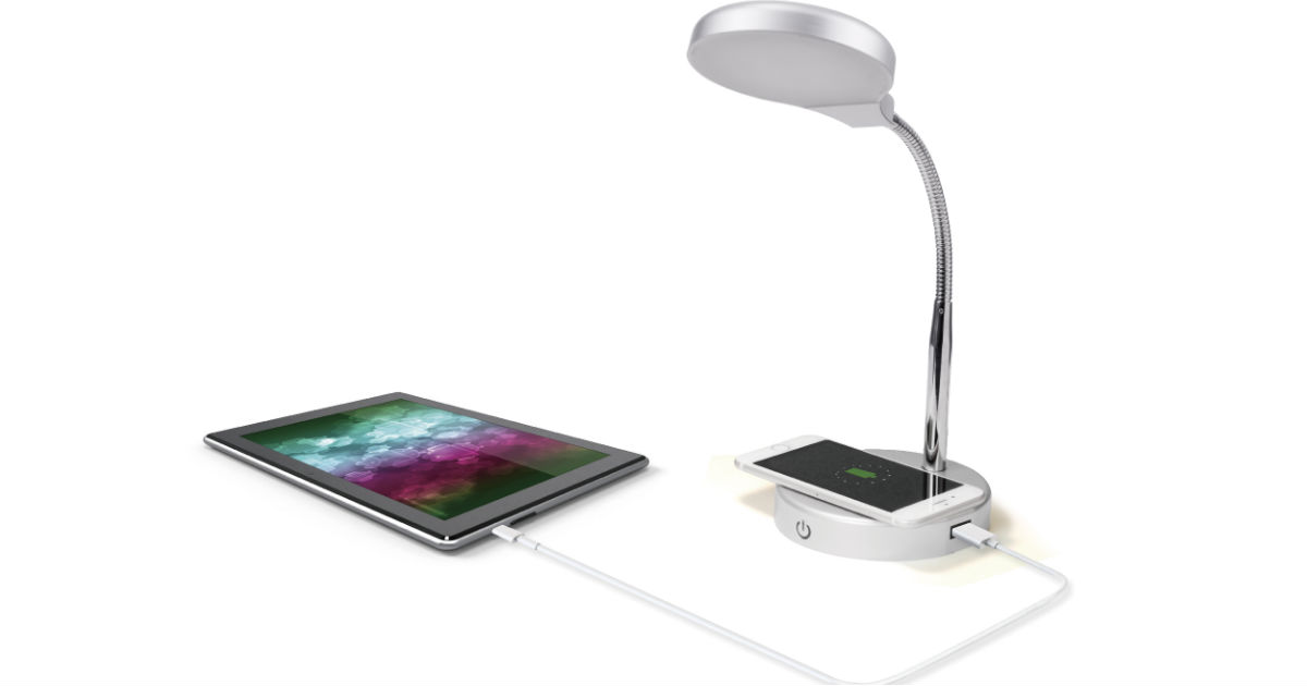 Mainstays LED Desk Lamp with Wireless Charging Port ONLY $10