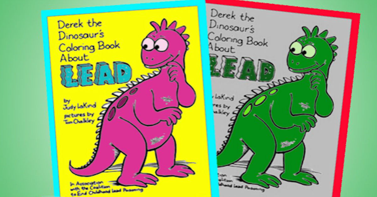 FREE Derek The Dinosaur Colori...