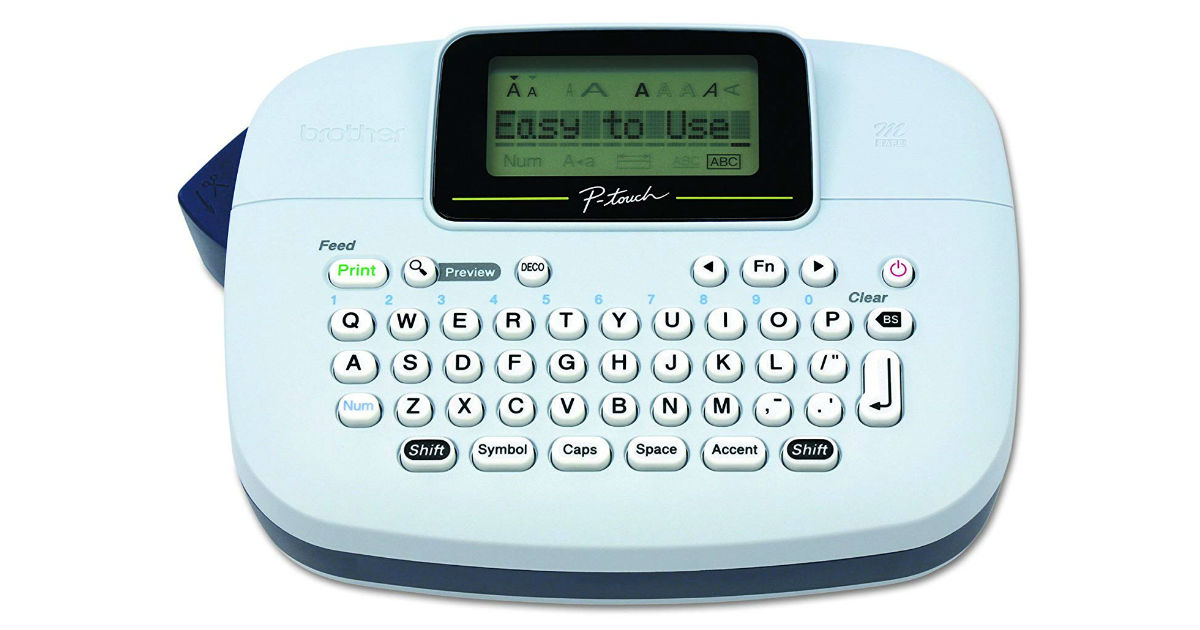 Brother P-touch Label Maker ONLY $14.99 (Reg. $50)