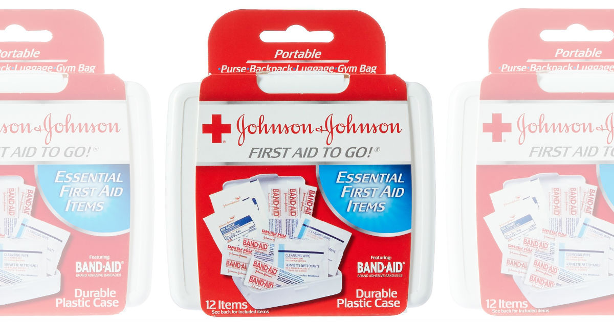 Johnson & Johnson First Aid To Go 12-Pieces ONLY $0.99