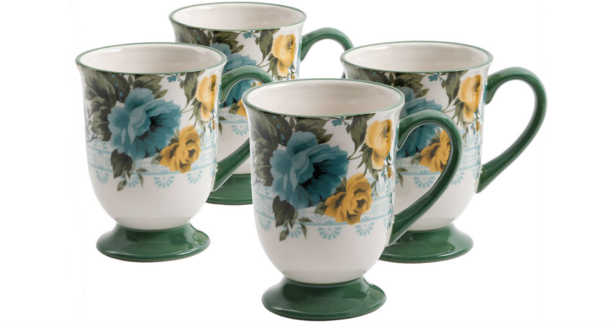 The Pioneer Woman 4-Piece Mugs Set ONLY $9.99 at Walmart