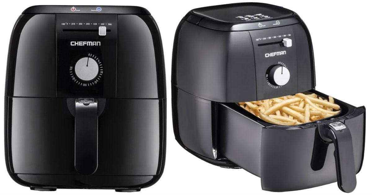 Chefman 2.5L Analog Air Fryer Black ONLY $39.99 (Reg $120)