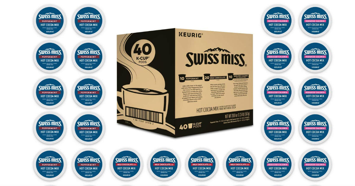 Swiss Miss K-Cup Pods 40-Count ONLY $18.99 on Amazon