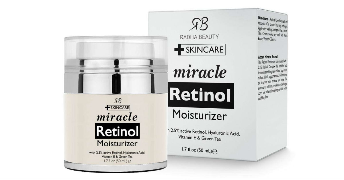 Retinol Moisturizer Cream ONLY $12.19 on Amazon (Reg. $29)