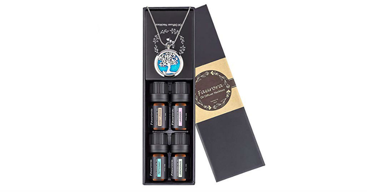 Essential Oil Necklace Gift Set ONLY $15.12 (Reg. $31)