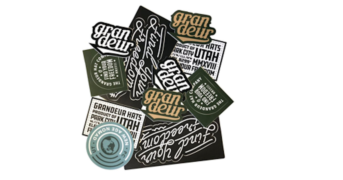 FREE Grandeur Hats Sticker Pac...
