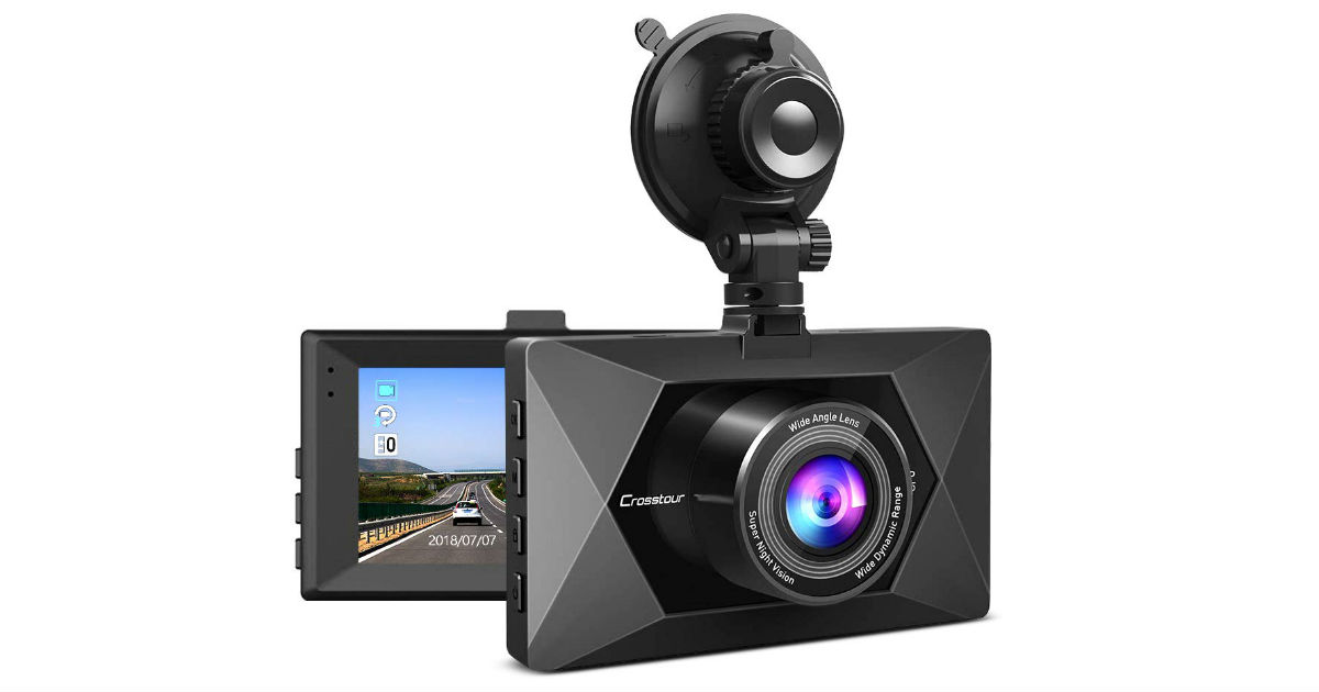 Crosstour Dash Cam ONLY $39.99 on Amazon (Reg. $80)