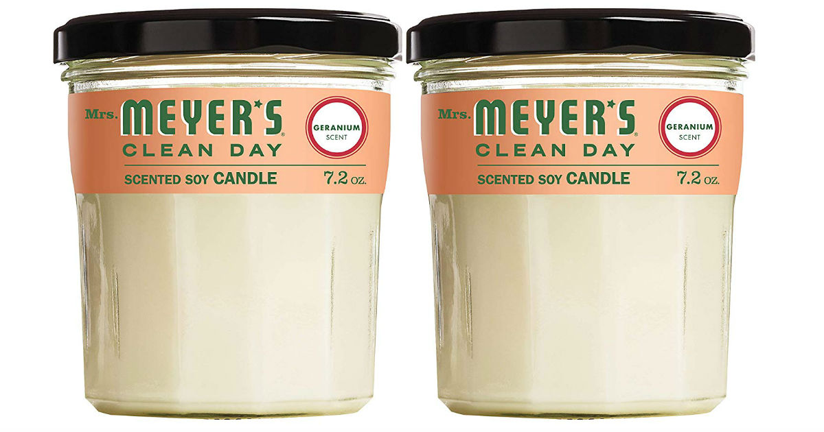 Mrs. Meyers Soy Candles ONLY $6.60 Each on Amazon!
