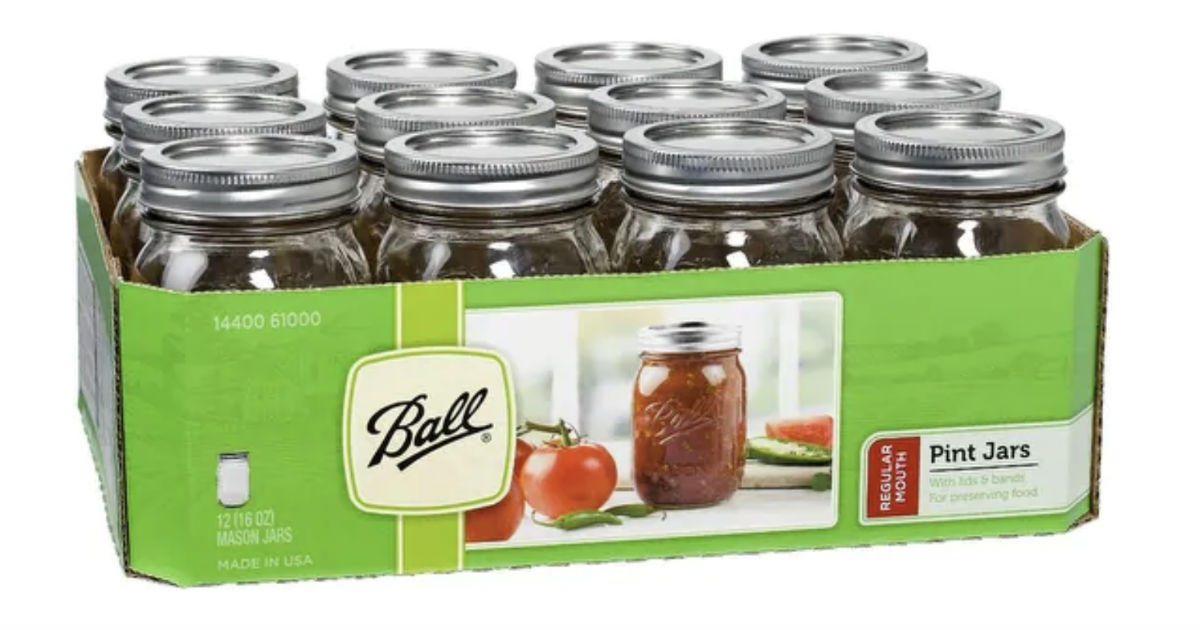 Ball 12-Count Glass Mason Jars ONLY $5.49 at Target (Reg $9)