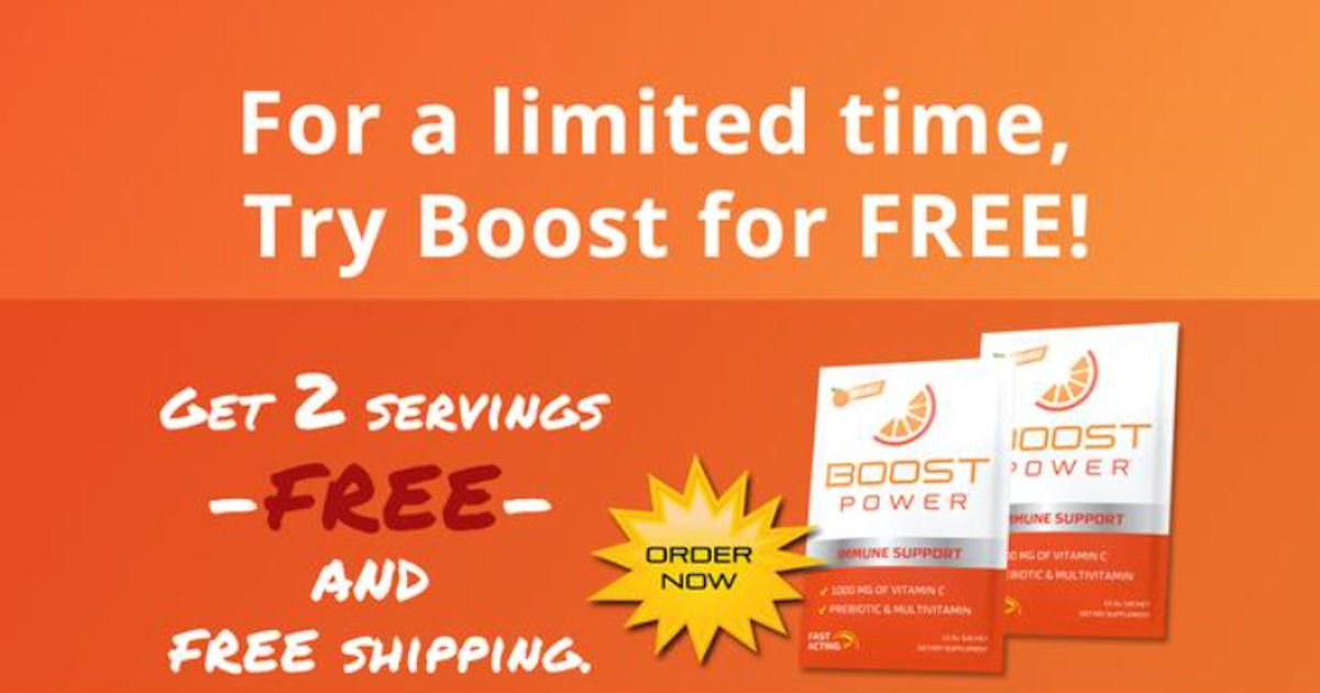 FREE Sample of Boost Power...