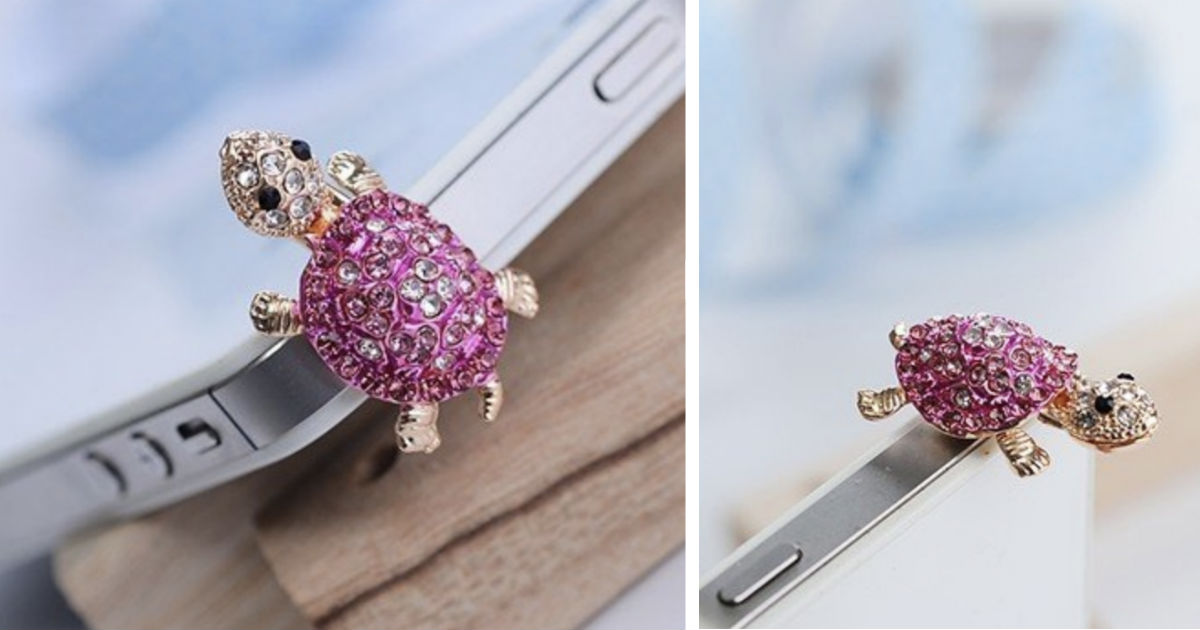 Earphone Jack Lovely Pink Turt...