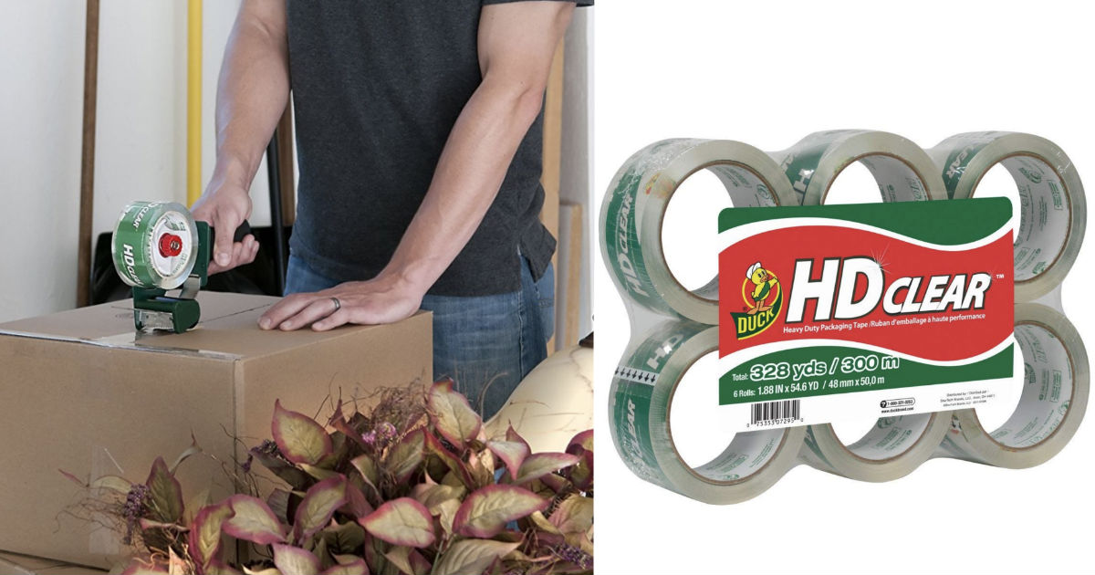Duck HD Clear Packaging Tape Refills 6-Pk ONLY $8.49 Shipped