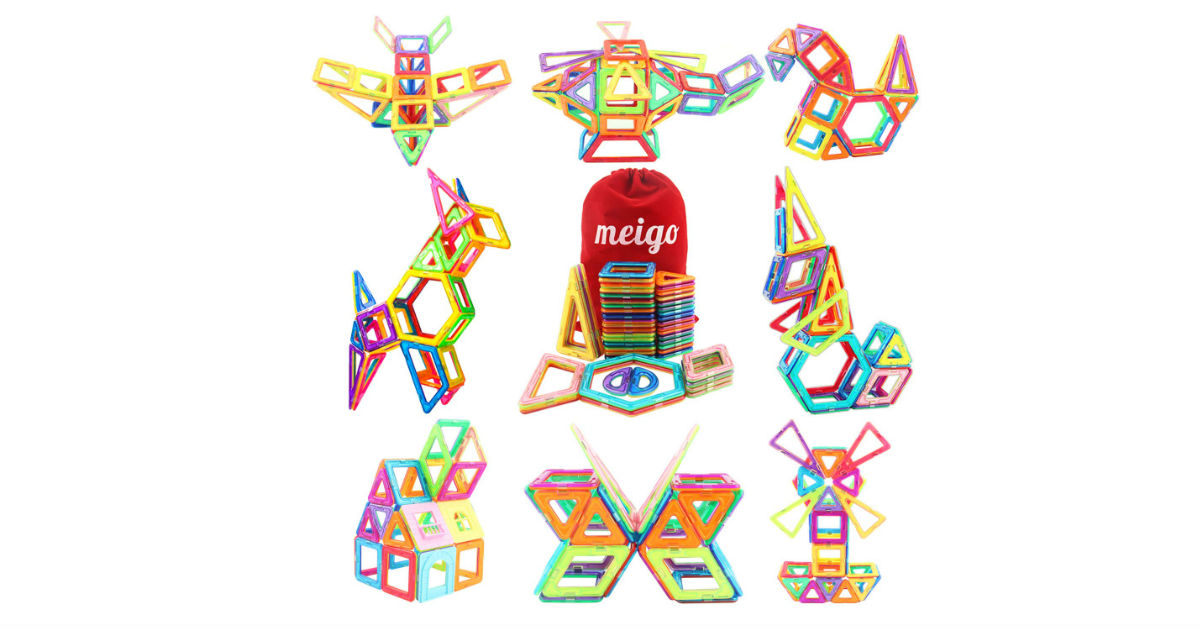 Meigo Magnetic Blocks ONLY $20.69 on Amazon (Reg. $50)
