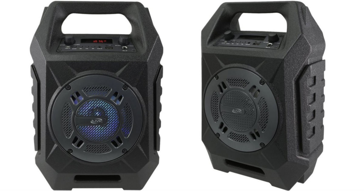 iLive Tailgate Portable Bluetooth Speaker ONLY $29.99 (Reg. $50)