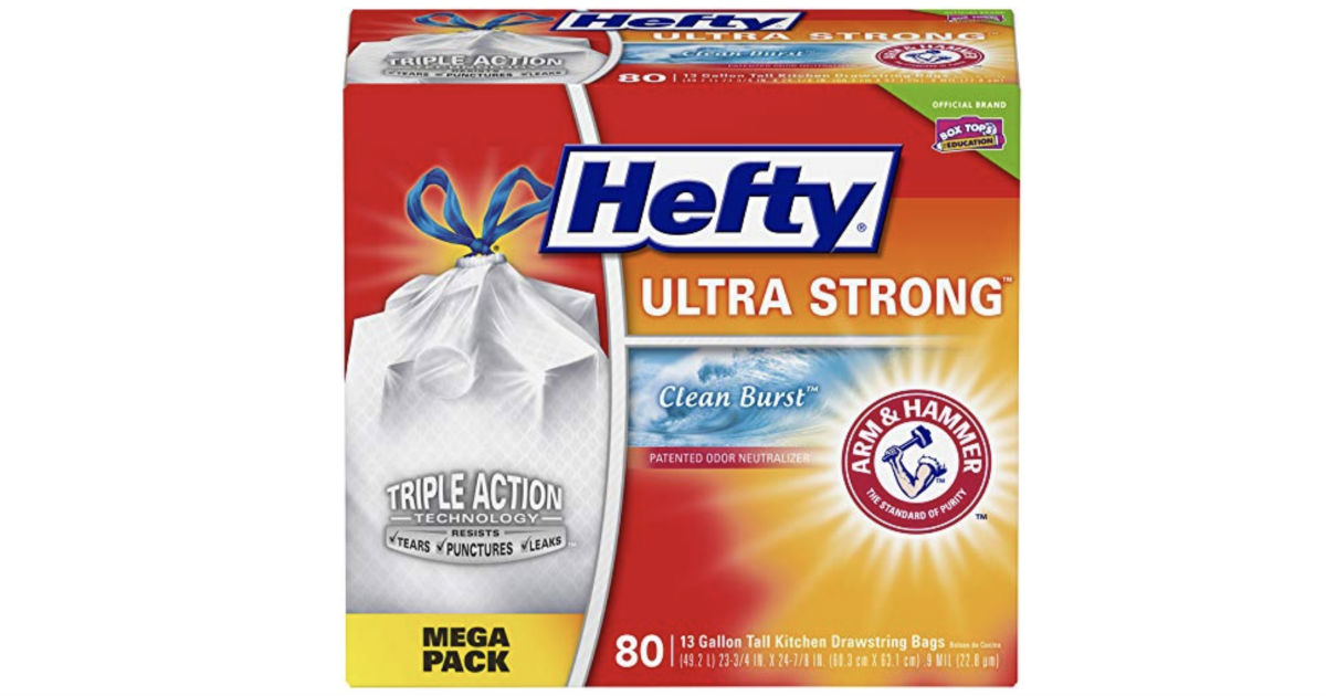 Hefty Ultra Strong Trash Bags 80-Pk ONLY $9.08 Shipped