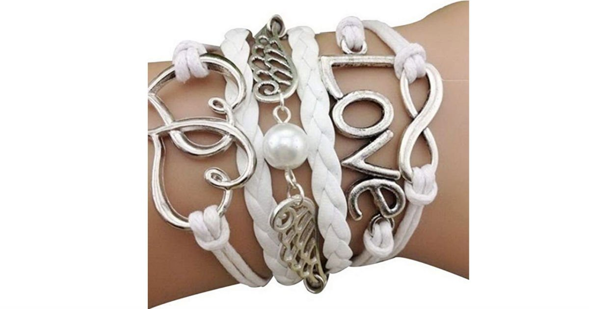 White Friendship Bracelet Braiding Love Wings ONLY $1.51 Shipped