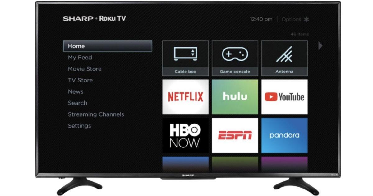 Sharp 32-In LED 720 Smart Roku TV ONLY $135Shipped (Reg $180)