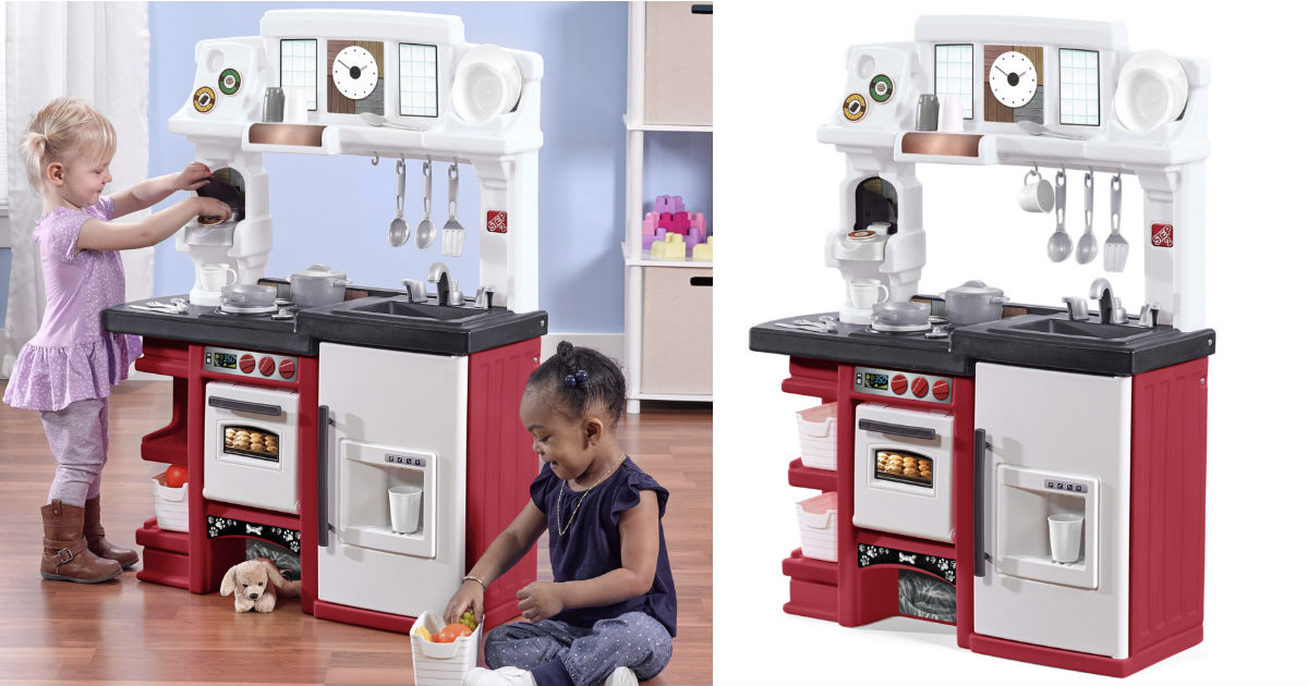 Step2 Coffee Time Play Kitchen Set w/ Toy Coffee Maker $52.88