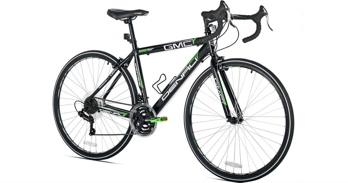 Adult Denali Road Bike - Black/Green ONLY $120 (Reg $249)