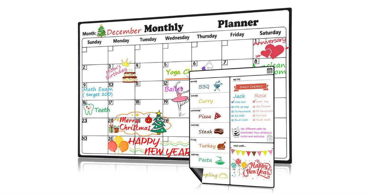 Magnetic Dry Erase Calendar ONLY $11.19 (Reg. $22)