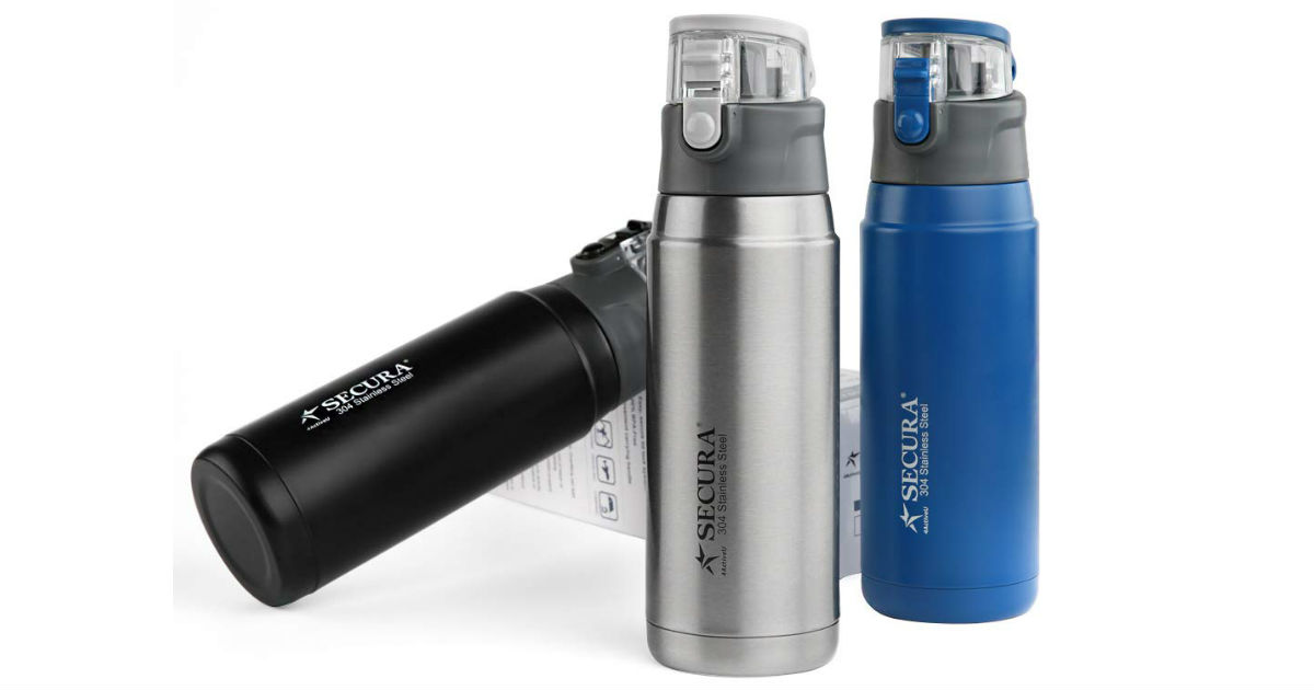 Secura Vacuum Insulated Water Bottle ONLY $8.53 on Amazon