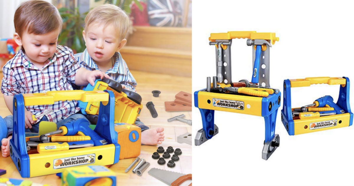 Kids Toy Tools & Workbench Set 70 Pcs ONLY $13.99 on Amazon