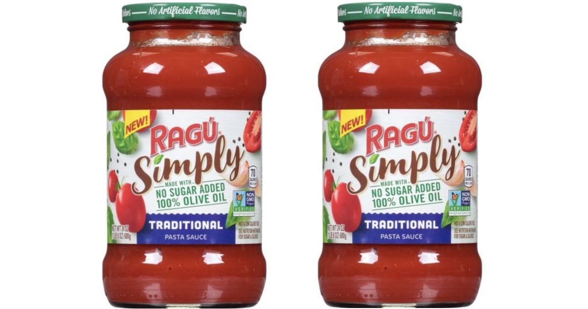 Ragu Simply Pasta Sauce ONLY $0.66 at Target