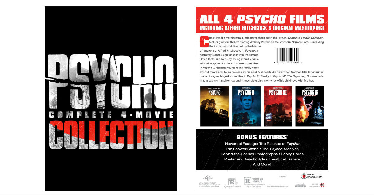 Psycho: Complete 4-Movie Collection ONLY $10.99 (Reg. $27)
