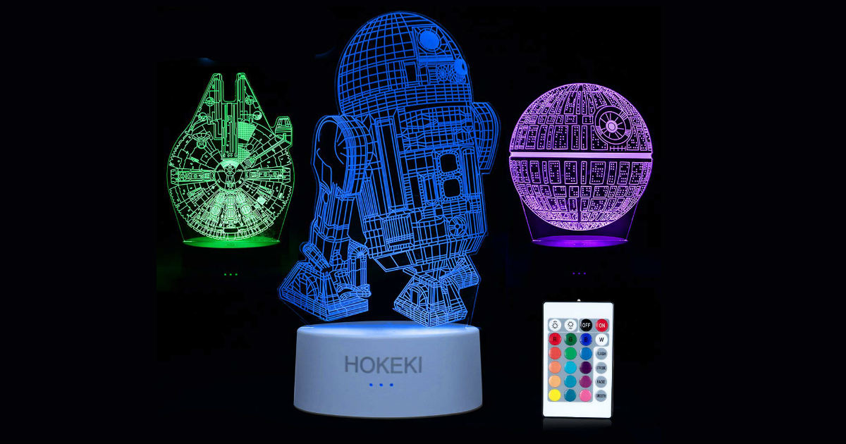 3D Star Wars Night Light on Amazon