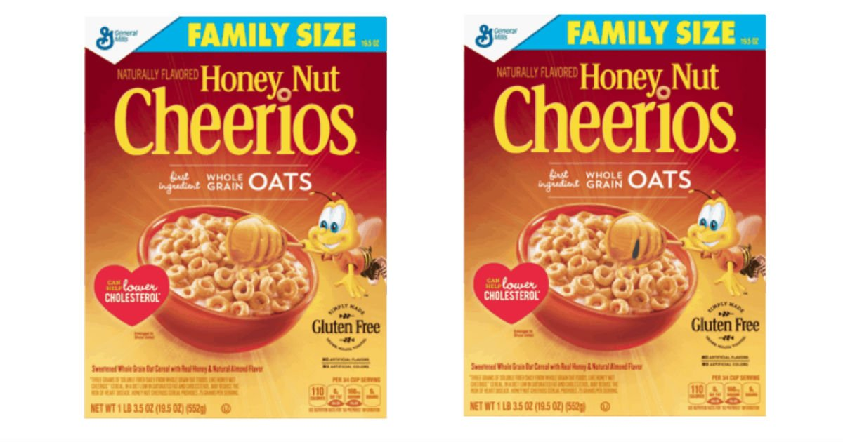 Cheerios Family Size Cereal Only $1.64 at Walmart (Reg. $3.64)