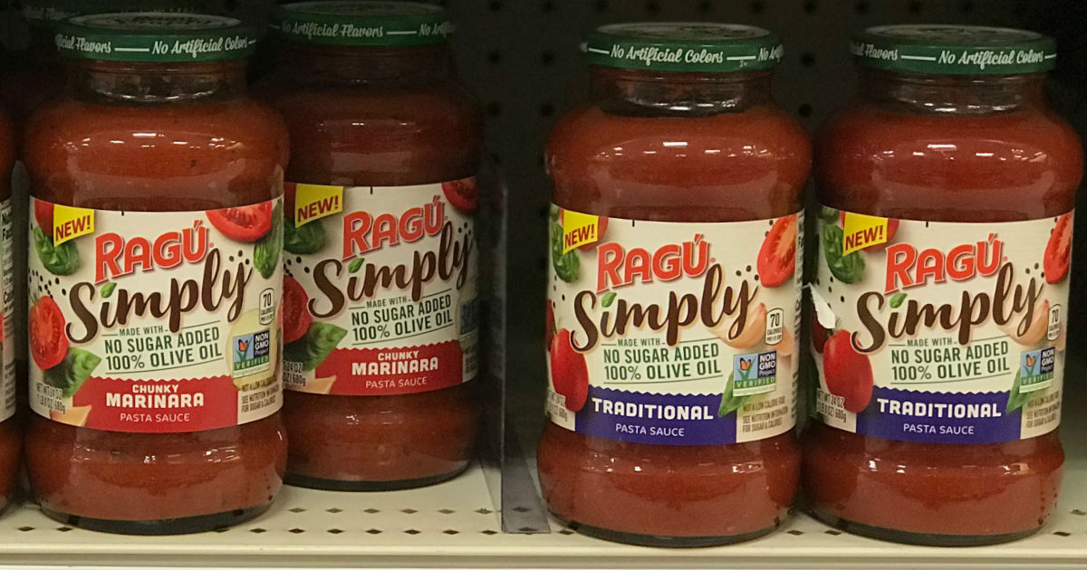 photo about Ragu Printable Coupons referred to as Ragu Effortlessly Pasta Sauce Just $1.02 at Walmart - Printable