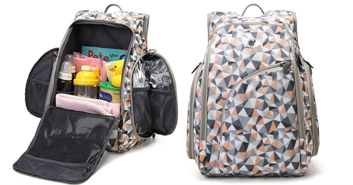 ECOSUSI Diaper Bag w/ Changing Pad ONLY $32.24 (Reg $43)