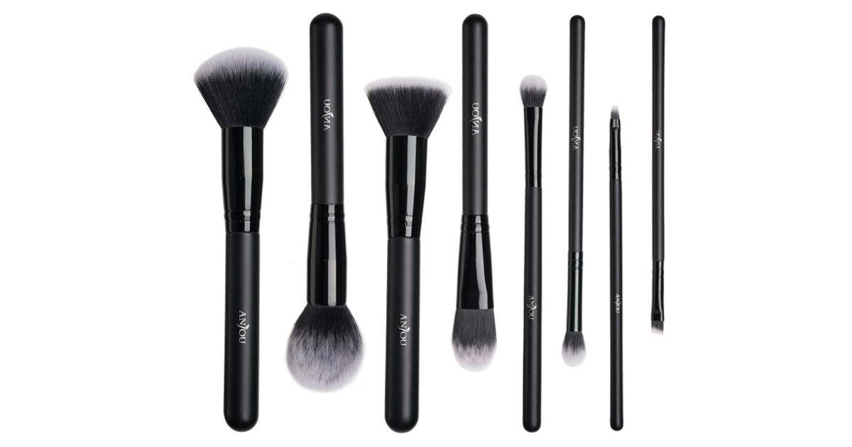 Anjou 8-Piece Makeup Brush Set ONLY $6.99 on Amazon