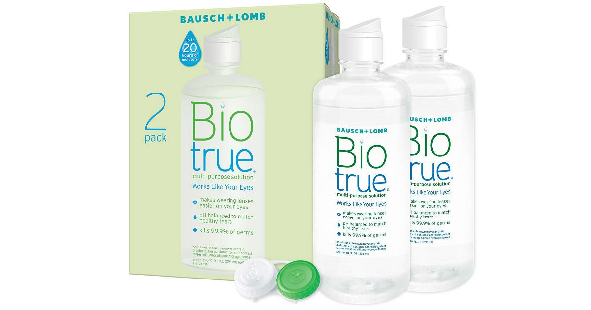 Biotrue Contact Lens Solution 2-Pack ONLY $10.18 Shipped