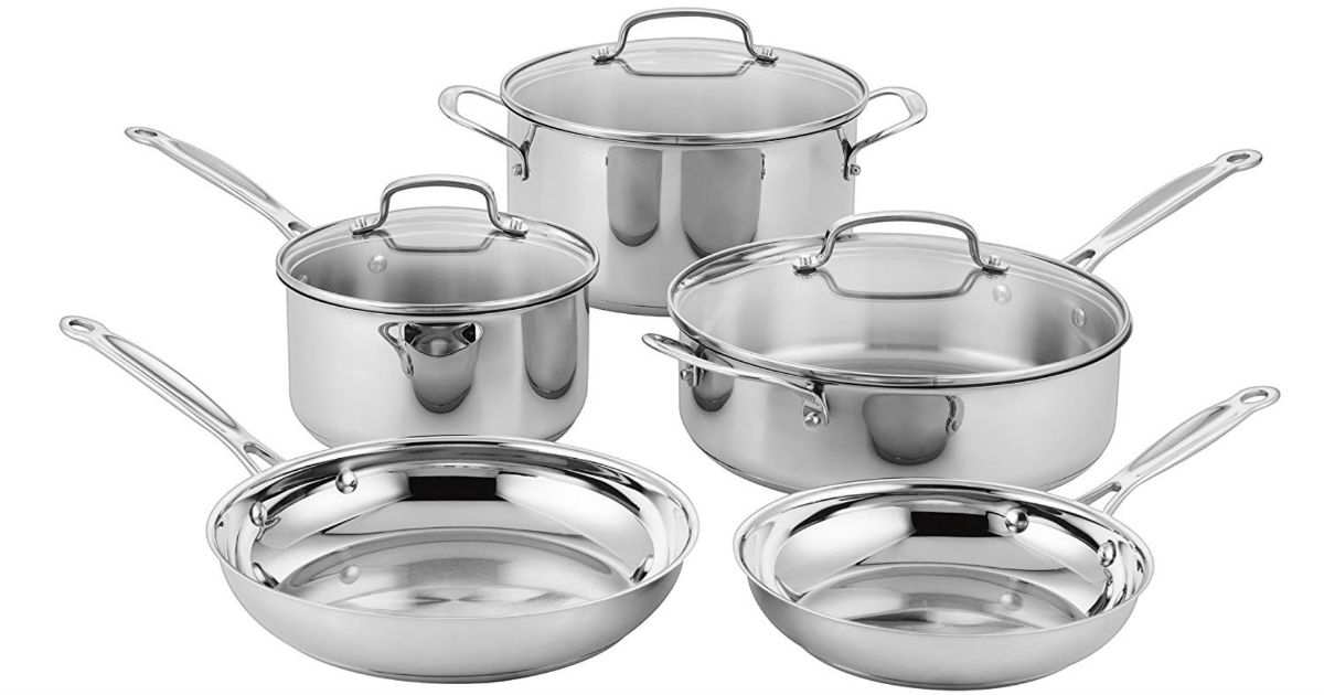 Cuisinart Classic Stainless Steel Cookware 8 Pc Set ONLY $99.99