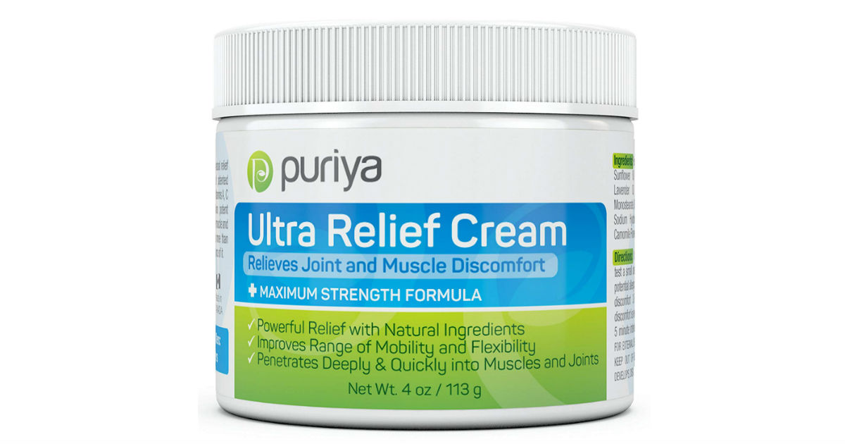 Puriya Pain Relief Cream ONLY $17 (Reg. $48)