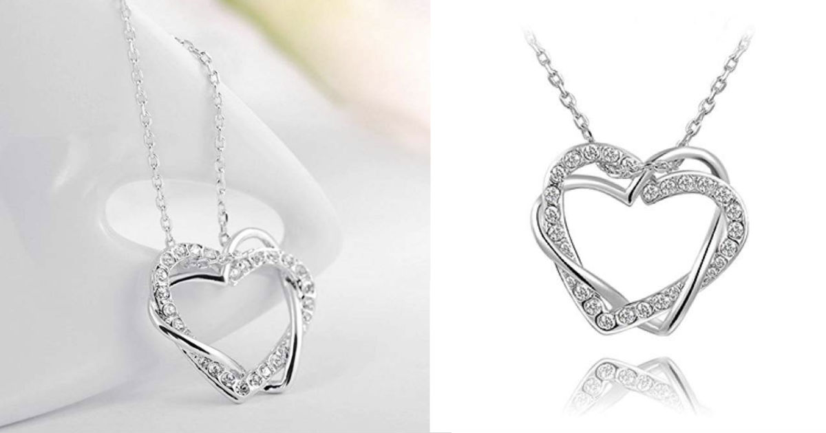 Fashion Love Rhinestone Neckla...