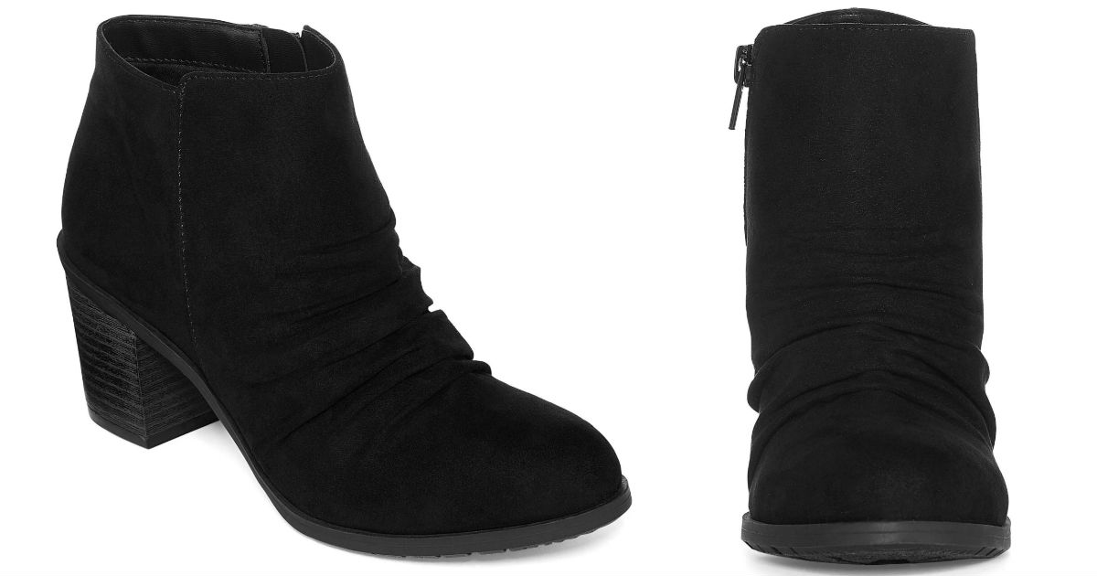 Arizona Oakes Block Heel Zip Booties ONLY $10.49 (Reg $60)