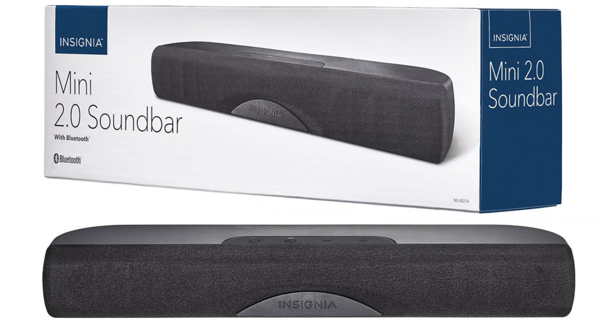 Insignia 2.0 Channel Sound Bar ONLY $39.99 (Reg $80) Shipped