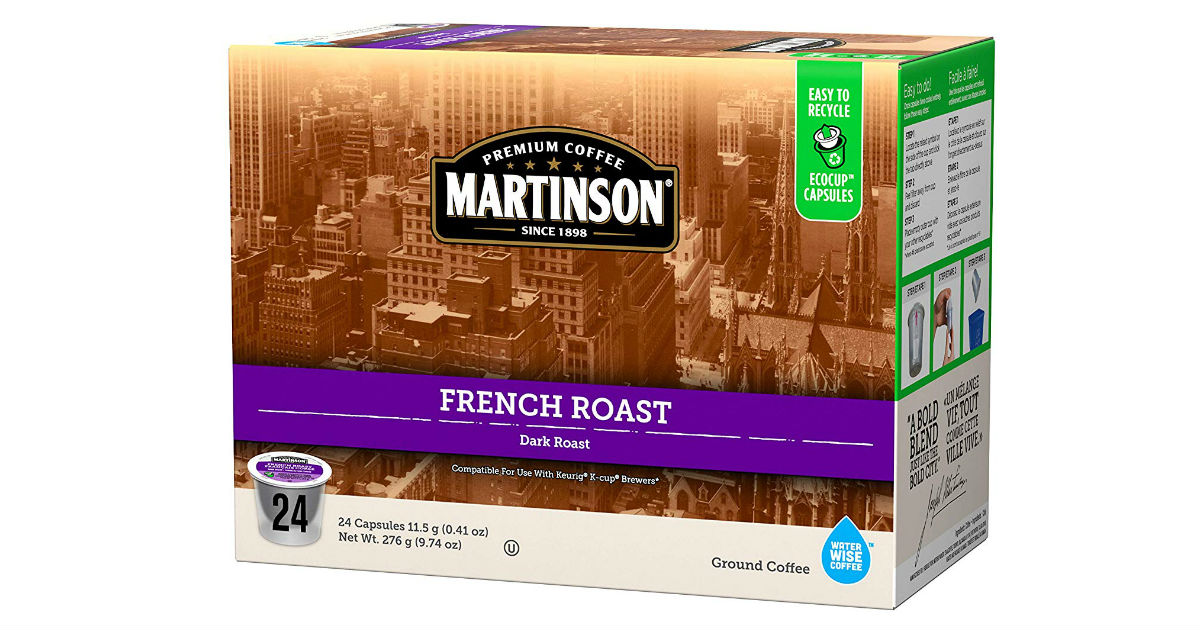 Martinson Singe Serve Coffee 24-Count ONLY $6.55 on Amazon